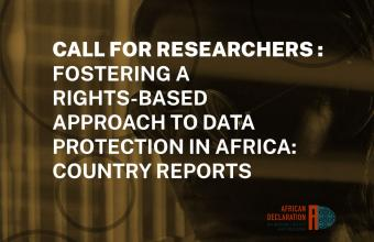 AfDEC Data Protection Research Call