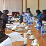 Dorothy Mukasa leading UW team making submissions to the then Data Protection and Privacy, Bill 2015.