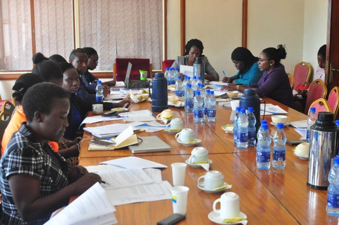 From left (in black and white jacket), the leading UW team making submissions to the then Data Protection and Privacy, Bill 2015 before the Parliamentary committee on ICT (seated right) in 2018 before passage of the law in 2019.